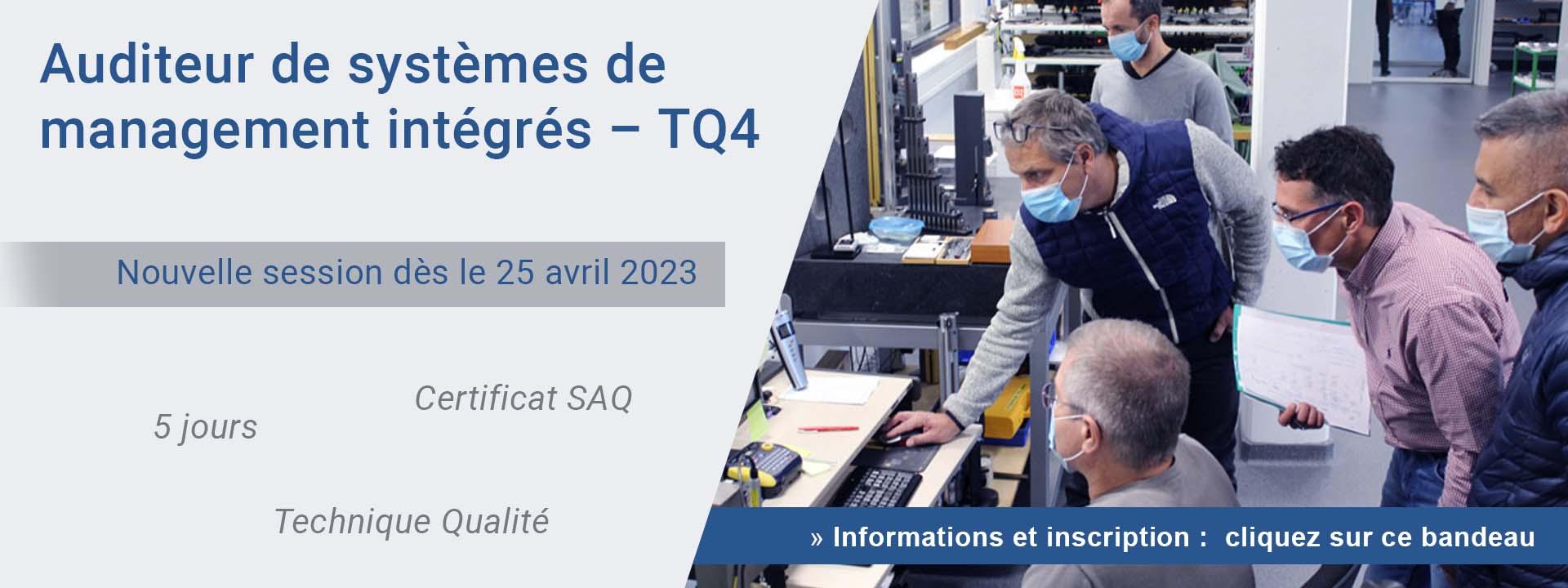 Auditeur de systèmes de management intégrés – TQ4