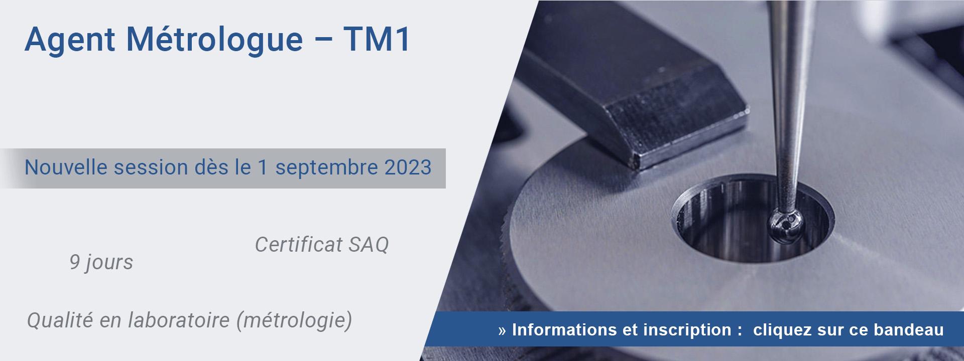 Agent Métrologue – TM1
