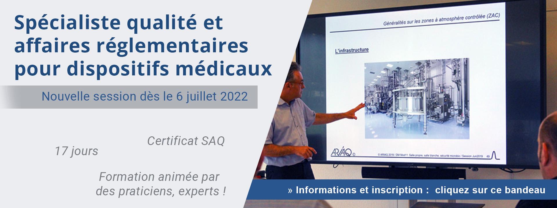 Spécialiste qualité et affaires réglementaires pour dispositifs médicaux