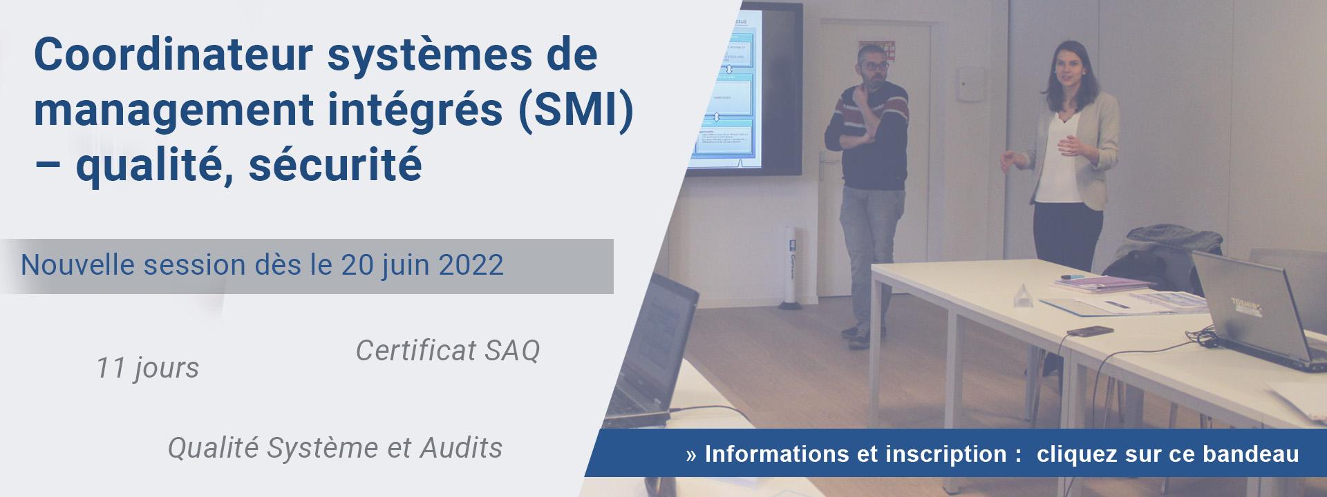 Agent systèmes de management intégrés (SMI) – qualité, sécurité et environnement