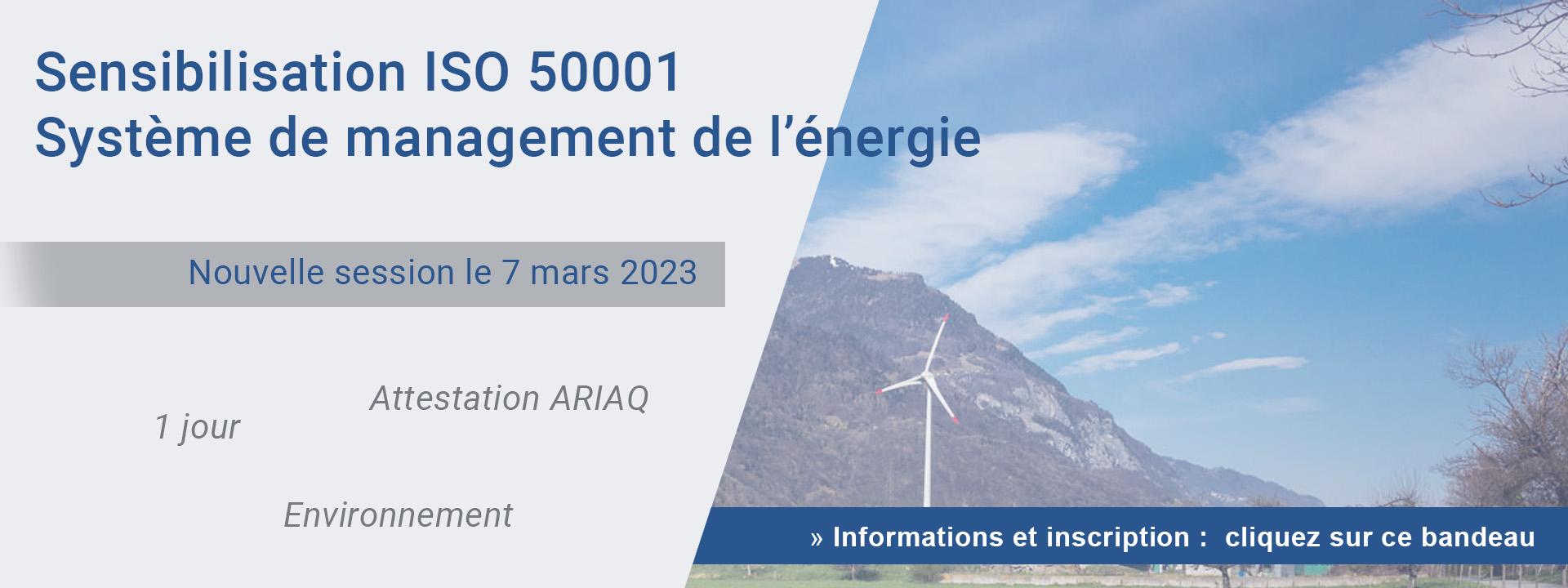 Sensibilisation ISO 50001 - Système de management de l'énergie