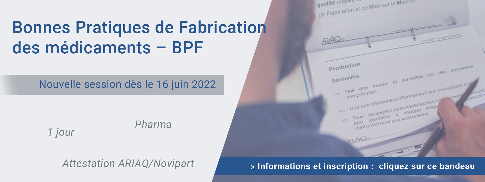 Bonnes Pratiques de Fabrication des médicaments – BPF