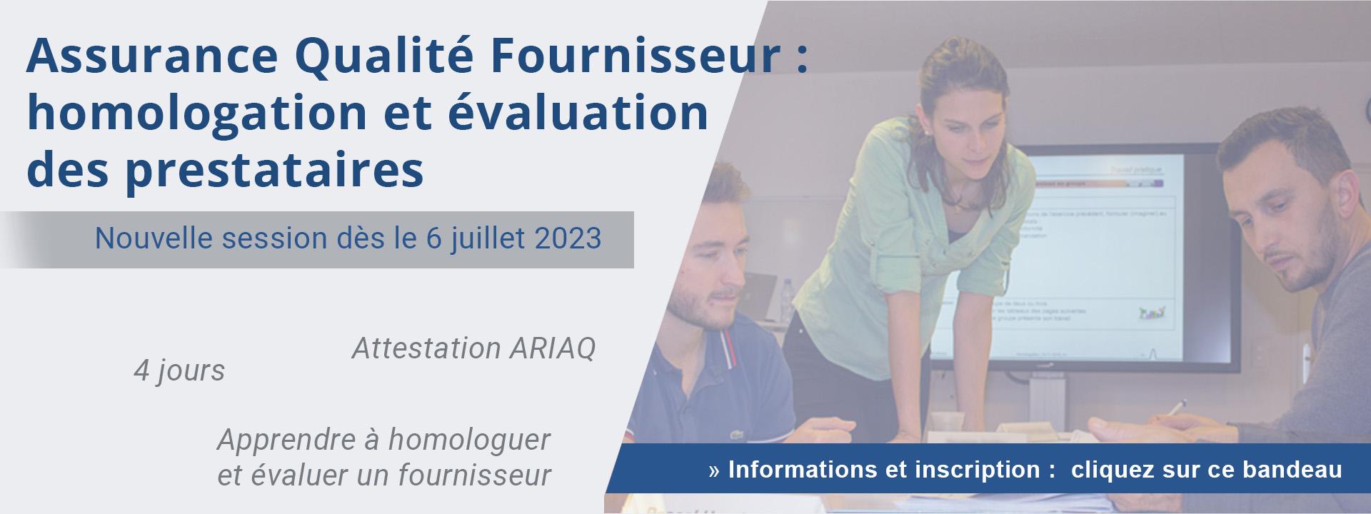 Assurance Qualité Fournisseur : homologation et évaluation des prestataires